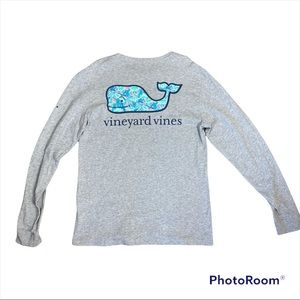 Vineyard Vines Long Sleeve Whale with Turtle and Fish